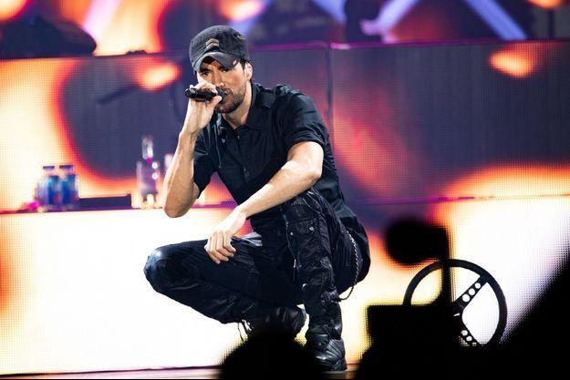 Enrique Iglesias en concert en 2018