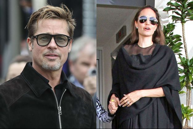 Brad Pitt au Mans et Angelina Jolie à Los Angeles, en juin dernier.