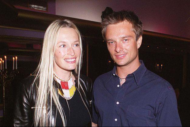 Estelle Lefébure et David Hallyday en 1999