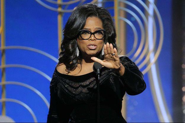 Oprah Winfrey lors de la 75e cérémonie des Golden Globes, le 7 janvier 2018.