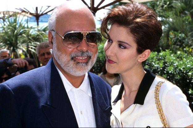 René Angélil et Céline Dion en 1990.
