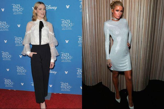 Evan Rachel Wood Anaheim le 24 août 2019 et Paris Hilton à Los Angles le 29 octobre 2019.