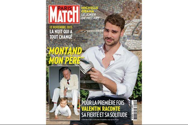 En une de Paris Match, Valentin Montand