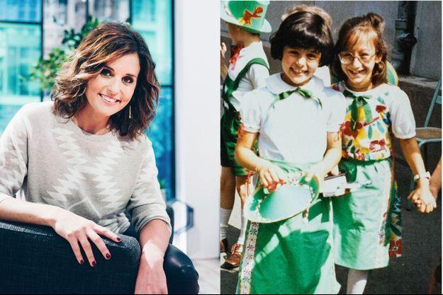 L'animatrice de 39 ans présente, depuis le mois de septembre, l'émission « Ça commence aujourd'hui » sur France 2. A droite: à 7 ans, avec Alexandra.