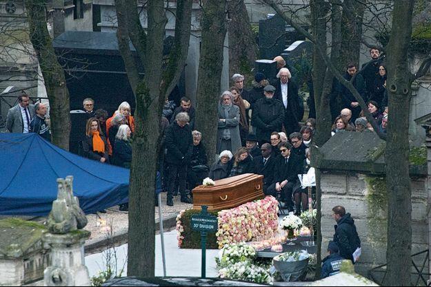Enterrement de France, cimetière de Montmartre, le 12 janvier 2018.