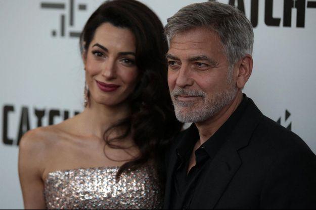Amal et George Clooney, en 2019.