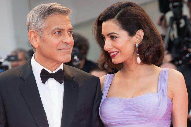George et Amal Clooney à la Mostra de Venise 2017.
