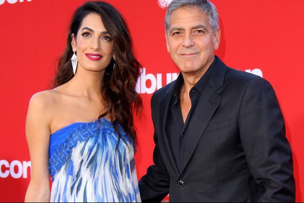 Amal et George Clooney, en octobre 2017.