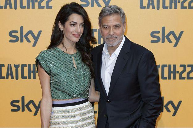 Amal et George Clooney en mai 2019