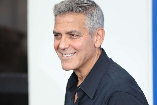 George Clooney à Venise en septembre 2017.