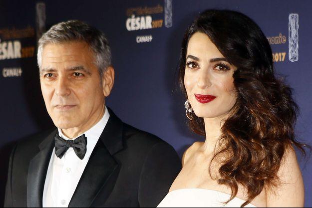 George et Amal Clooney, le 24 février 2017.