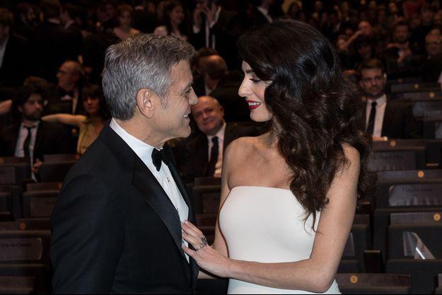 George et Amal Clooney lors de la 42ème cérémonie des César, le 24 février 2017.