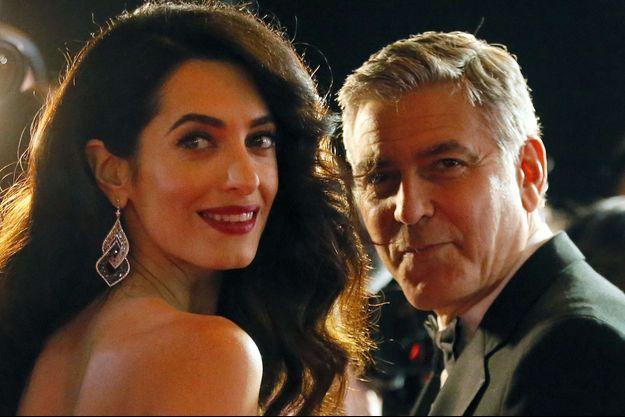 Amal et George Clooney à la cérémonie des César en février 2017.