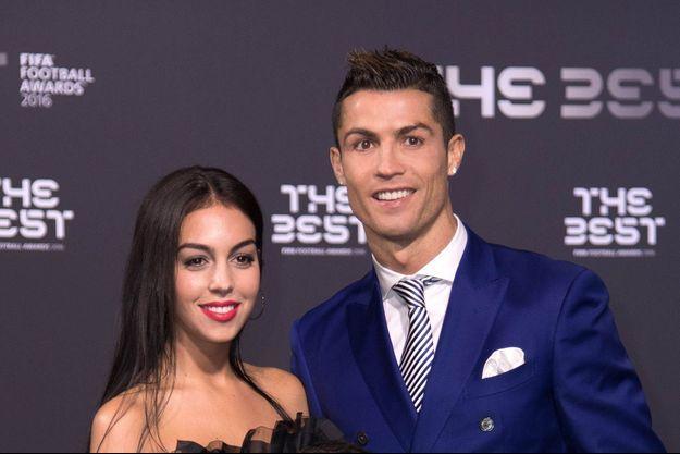 Georgina Rodriguez et Cristiano Ronaldo à Zurich, le 9 janvier 2017.