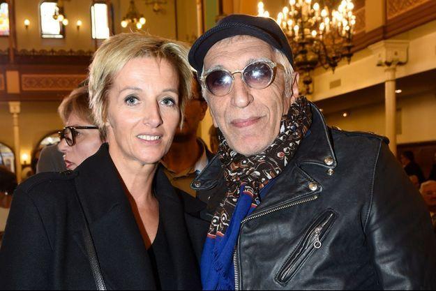 Gérard Darmon et sa compagne Christine en 2015.