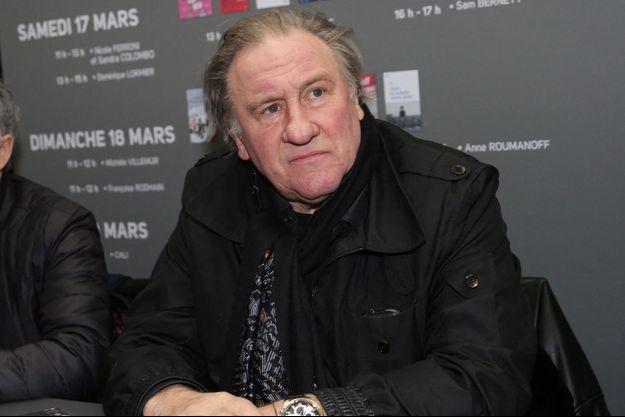 Gérard Depardieu au Salon du Livre en 2018