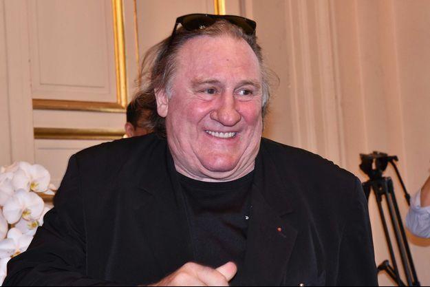 Gérard Depardieu à Paris en juillet 2016.