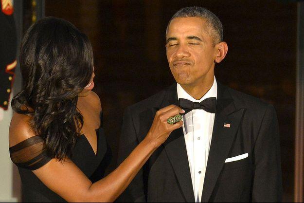 Le couple Michelle et Barack Obama en 2015.