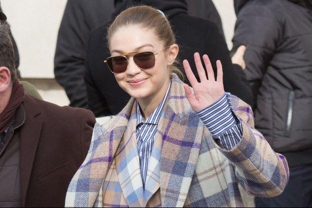 Gigi Hadid lors de l'une de ses dernières apparitions à Paris en mars 2020
