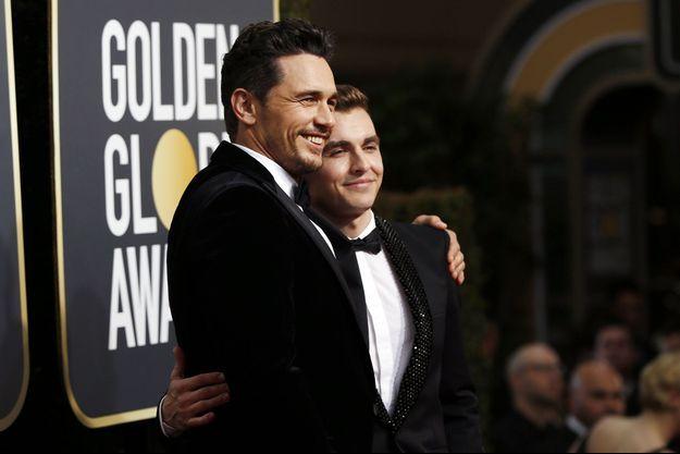 James Franco et son frère Dave aux Golden Globes dimanche.