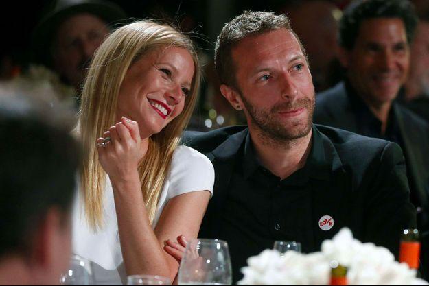 """Gwyneth Paltrow et Chris Martin au gala """"Sean Penn and Friends Help Haiti Home"""" le 11 janvier 2014"""