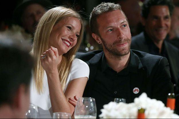 Gwyneth Paltrow et Chris Martin à Beverly Hills en 2014.