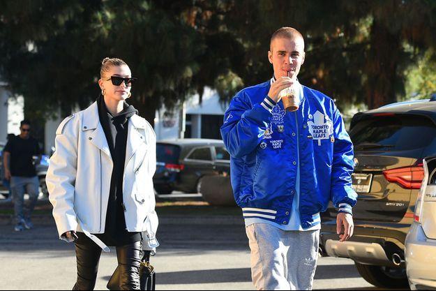Justin Bieber et Hailey Baldwin à Los Angeles, le 3 novembre 2018