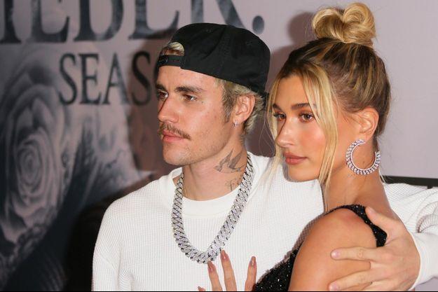 Hailey et Justin Bieber en janvier 2020 à Los Angeles.
