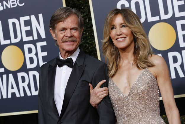 Felicity Huffman et son mari William H. Macy aux Golden Globes en janvier 2019