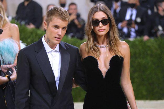 Justin Bieber et Hailey Baldwin au gala du MET le 13 septembre 2021.