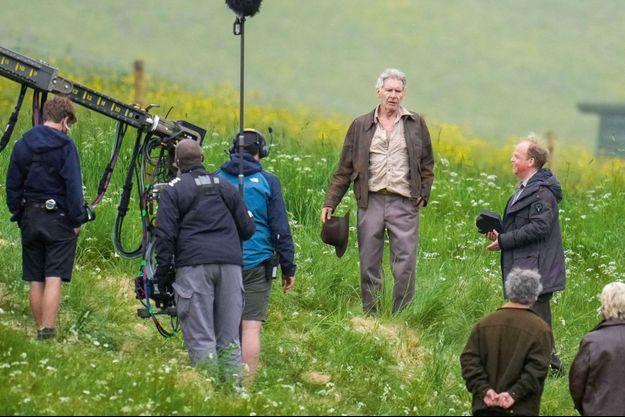 Harrison Ford sur le tournage du prochain volet d'Indiana Jones.