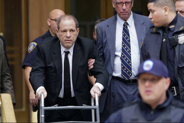 Harvey Weinstein le 6 janvier à New York pour l'ouverture de son procès.