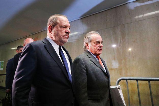 Harvey Weinstein avec son avocat Ben Brafman le 20 décembre 2018