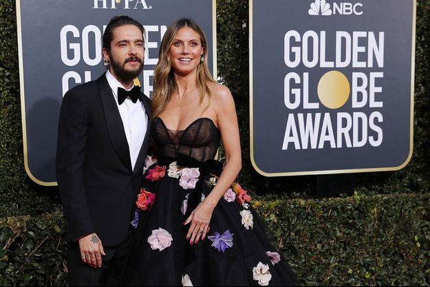 Heidi Klum et Tom Kaulitz à Beverly Hills, le 6 janvier 2019