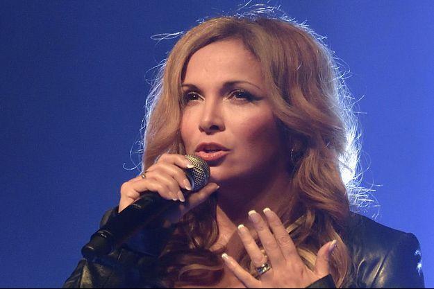Hélène Segara en concert à Paris.