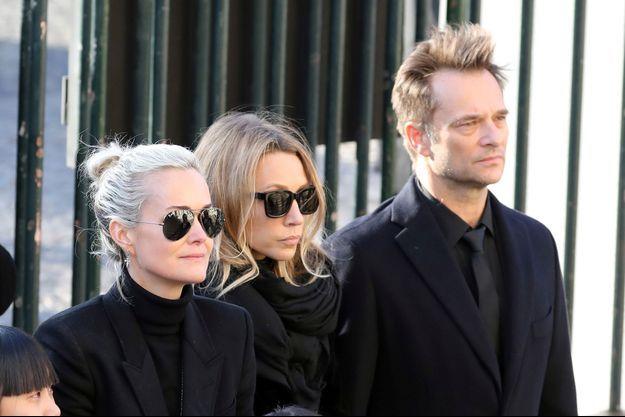 Le clan Hallyday aux obsèques de Johnny en décembre 2017