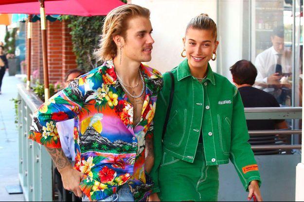 Justin Bieber et Hailey Baldwin à Los Angeles le 30 août 2018