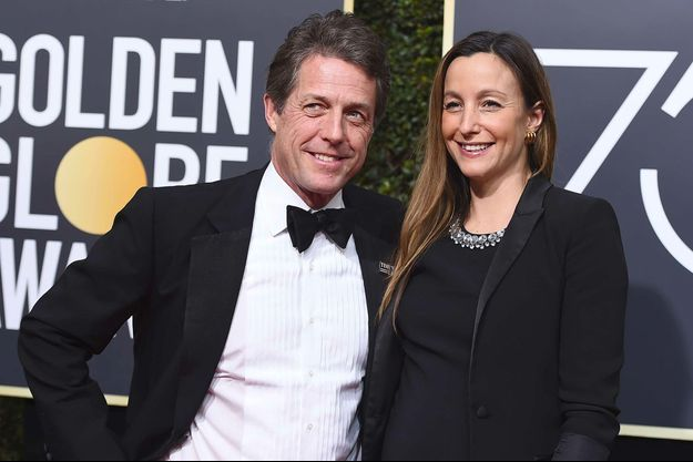Hugh Grant et Anna Eberstein aux Golden Globes 2018