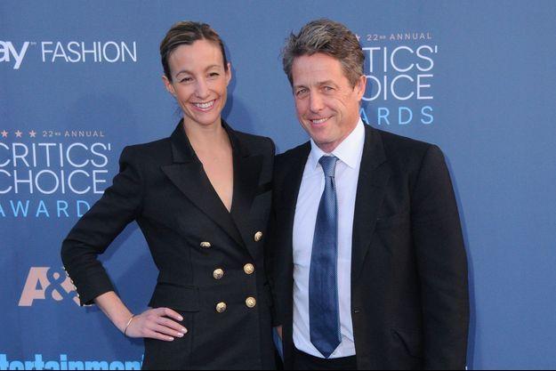 Hugh Grant et Anna Eberstein aux Critics' Choice Awards à Los Angeles, le 11 décembre 2016