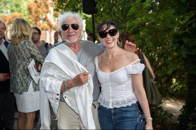 Hugues Aufray et sa compagne Muriel en 2017.