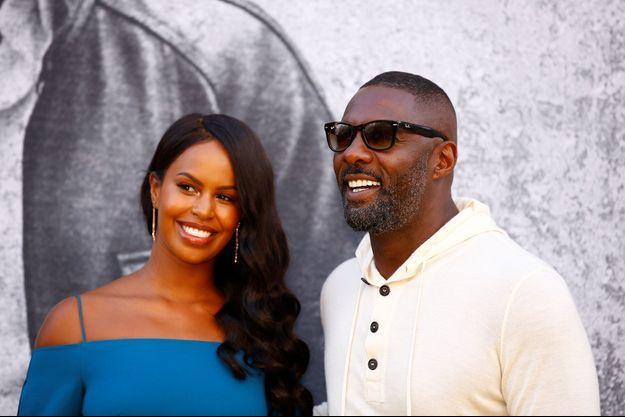 """Idris Elba and et Sabrina Dhowre à l'avant première du film """"Yardie"""" à Londres en août 2018"""
