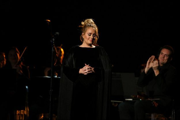 Adele aux Grammy Awards, à Los Angeles, en février 2017.