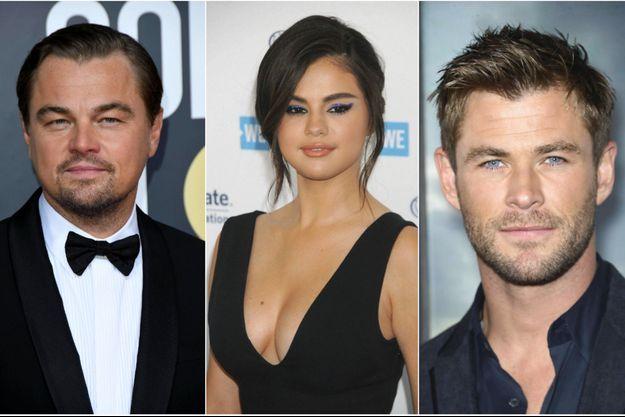 Leonardo DiCaprio, Selena Gomez et Chris Hemsworth ont fait des dons pour aider l'Australie.