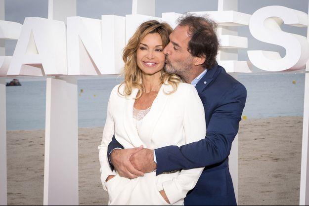 Ingrid Chauvin et son mari Thierry Peythieu en avril 2018