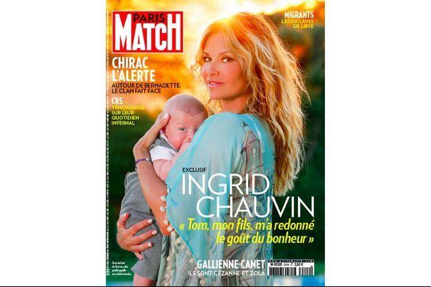 Ingrid Chauvin en une de Paris Match n°3514