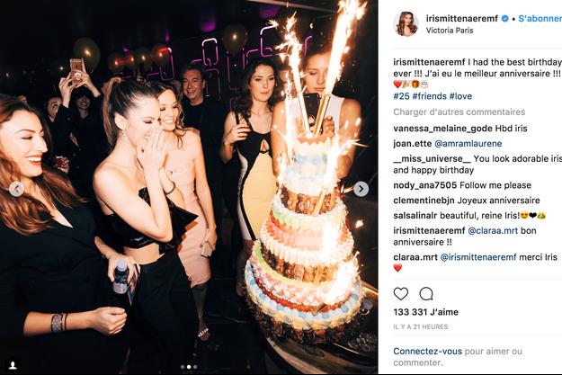 Iris Mittenaere a fêté son 25e anniversaire à Paris.
