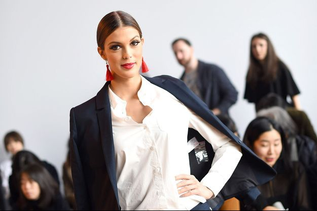 Iris Mittenaere lors de la Fashion Week de New York.