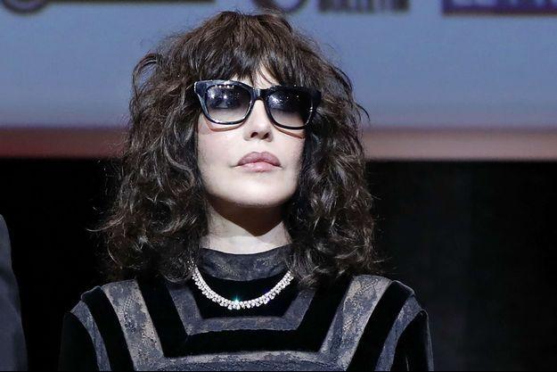 Isabelle Adjani à la 9e édition du festival Lumière, à Lyon, le 20 octobre. L'actrice est parée d'un collier Chopard de la Collection Haute Joaillerie en or blanc serti de 138 diamants ronds (44,84 cts) et de 46 diamants taille poire (13,91 cts).