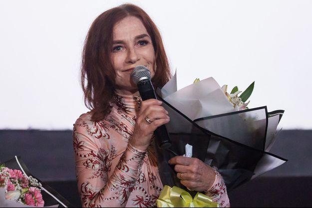 Isabelle Huppert, vendredi au festival du film MEMORY! à Rangoun.