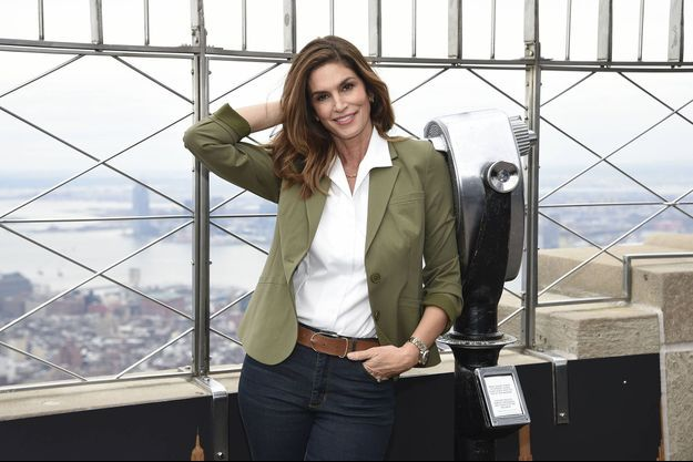 Cindy Crawford en haut de l'Empire State Building en mars 2020